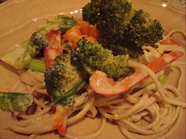 Udon Noodles with Veggies and Cashew Butter Sauce | Eat Well. Live ...