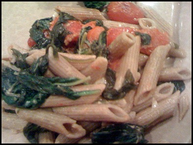 Lemony Penne with Roasted Tomatoes and Spinach2